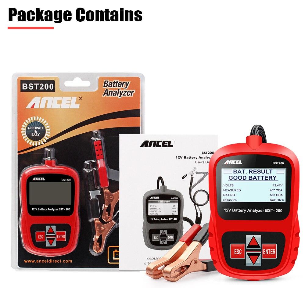 ANCEL Bst200 Voiture testeur de batteries Multi-langue 12 V 1100CCA système de batterie Détecter Automobile De Voiture Mauvais Cellulaire Batterie Outil De Diagnostic - 6