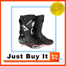 Great Quality Hot Wheels Racing boots Motorcycle boots Racing Shoes Knight boots Ankle brace SPEED RED BLACK