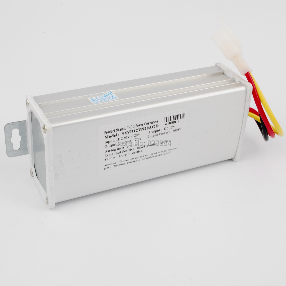 DC-DC VOLTAGE REDUCER CONVERTER FROM 96V 84V 72V 60V (45V-120V) TO 12V 240W 20Amax dc 45v