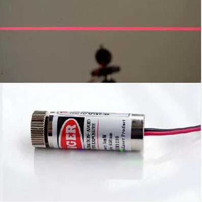 650nm 5mw Red Laser Line Module Metal Body Adjustable Laser Head laser head owx8060 owy8075 onp8170