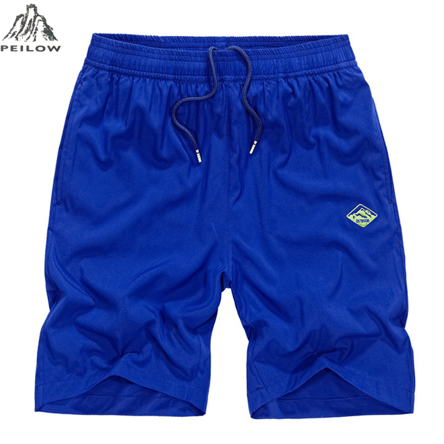 PEILOW plus size M~5XL Fashion brand summer Men Breathable loose elastic Shorts beach Homme shorts men board shorts trousers