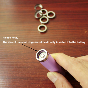Image 5 - 100pcs/lot 18650 lithium battery protection board stainless steel ring cap battery protection board rubber pad base rubber ring