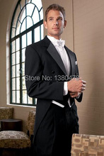 2016black good quality slim fit prom two Buttons single breasted notch lapel formal man Tuxedo bridegroom Wedding/business Suit