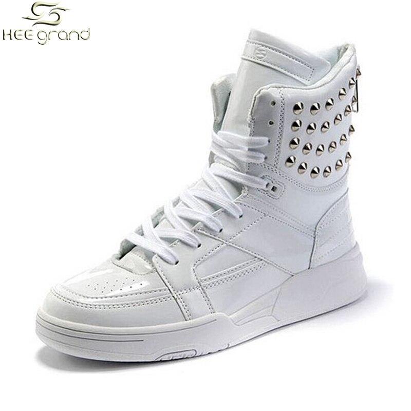 Prix pour Hommes Sneakers Lace-up Haute Cheville Hommes Chaussures de Skate de Revits Chaussures de Rue Homme Cool Chaussures XMB523
