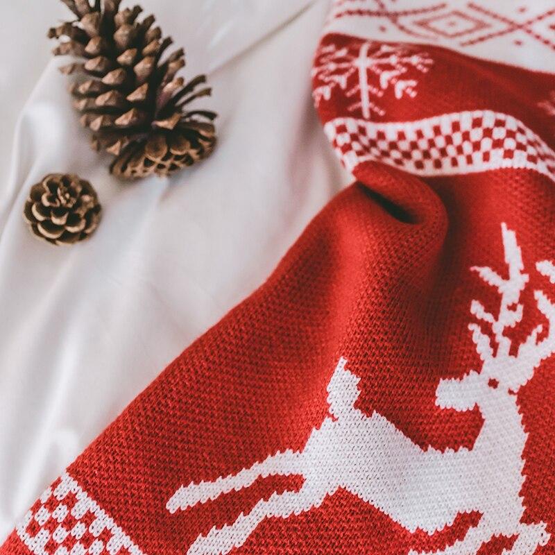 IDouillet Peúga Do Natal Snuggly Em Forma Cobertor Wearable Cobertor Lance para Sofá Cama Couch Decor Malha de Viagem Ao Ar Livre Vermelho - 5