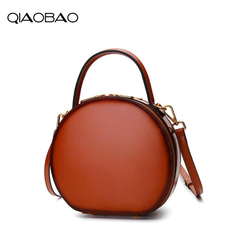 d7e1bb0ec087 QIAOBAO Leather handbags 2018 new Messenger bag female leather bag spring  and summer fashion handbag small