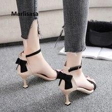 Marlisasa Vrouwen Hoge Hakken Women Cute High Quality Pu Leather Peep Toe High Heel