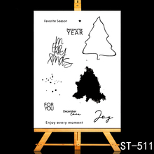 ZhuoAng Favorite season Clear Stamps/Card Making Holiday decorations For  scrapbooking Transparent stamps 10*15cm