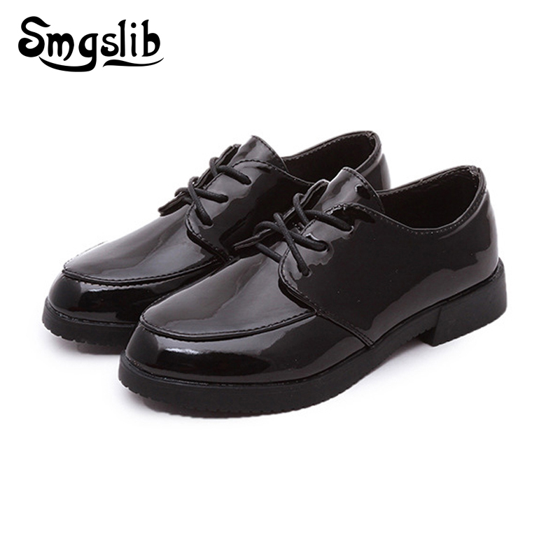 0a924561655e Kids Shoes Children Party Trainers 2018 Brand Boys Girls Dress School Shoes  For Kids Casual Shoes Black Red Leather Sneakers
