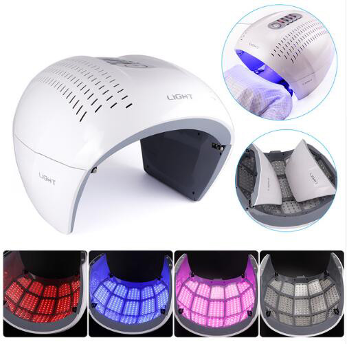 4 Colors PDT Face Mask LED Light Therapy Machine Skin Rejuvenation Facial Mask Anti Aging Acne Wrinkle