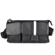 Genuine Leather Waist Bag Funny Pack Belt Men For Phone Pouch 3018A