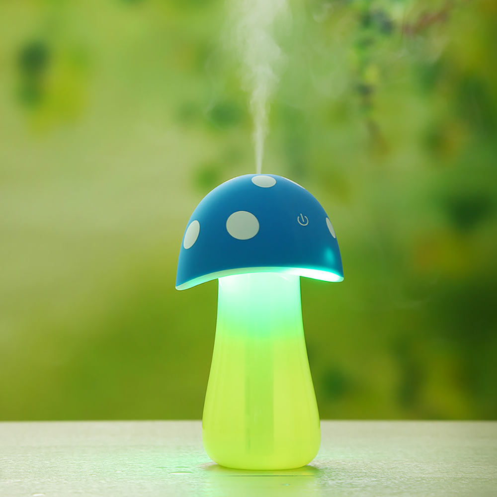 Mini USB Mushroom Shape Ultrasonic Humidifier LED Light Essential Oil Aroma Diffuser SPA Yoga Mist Maker Fogger Air Purifier
