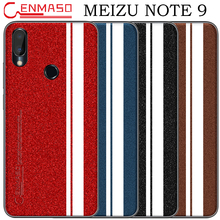 For Meizu Note 9 Back Case for M9 Pearl PU Leather Full Protective Phone Note9 Shockproof Cover