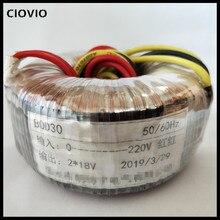 24V 0 24V Кольцевой трансформатор 50VA 220V вход Dual 24V индивидуальный тороидальный трансформатор для усилителя питания