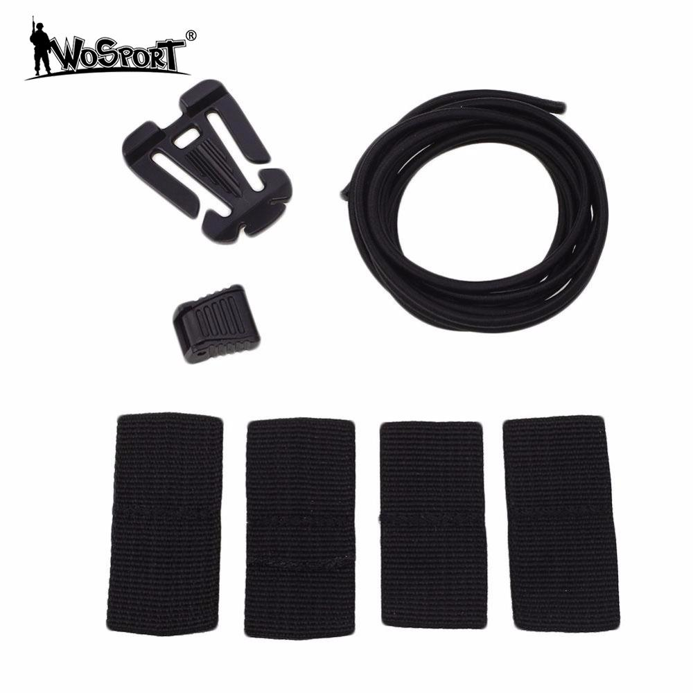 WoSporT Tactical Helmet DIY Deck Set Modified Rubber Elastic Set Kits Tactical Upgrading ...
