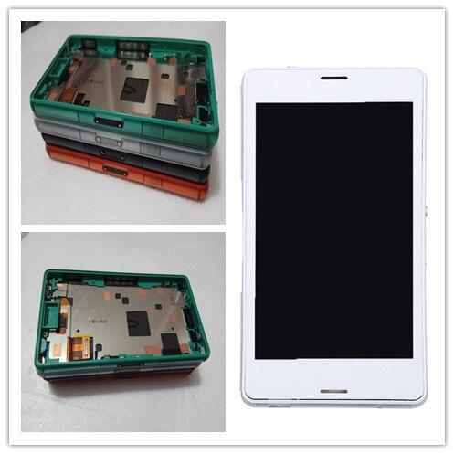 4.6 дюймов Дисплей Sony Xperia <font><b>Z3</b></font> Мини Компактный D5803 D5833 ЖК-дисплей Сенсорный экран планшета замена Узлы и агрегаты для автомобиля с рамкой