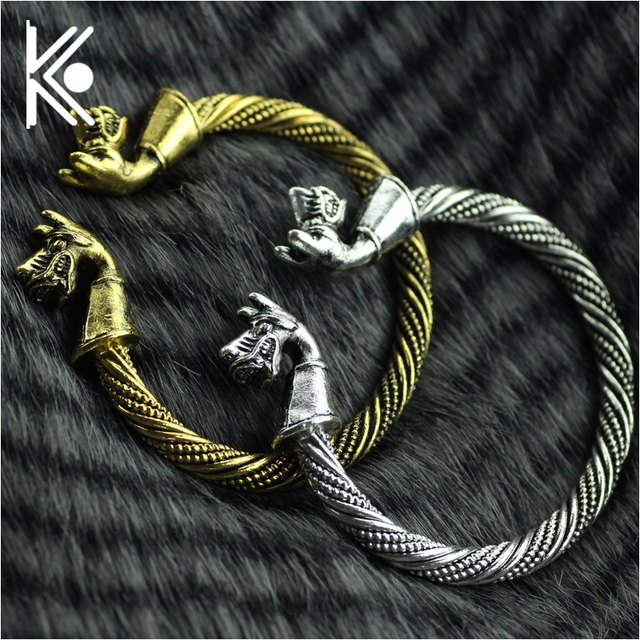 freeshipping Fashion Cool Viking Jewelry Mens Two Dragon Headed