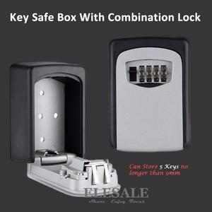 Image 1 - Chiave Dellorganizzatore di Immagazzinaggio Scatole con 4 Cifre A Parete Combinazione di Password Chiavi Gancio Organizzatore Scatole di Metallo di Piccole Dimensioni Segreto Cassetta di sicurezza