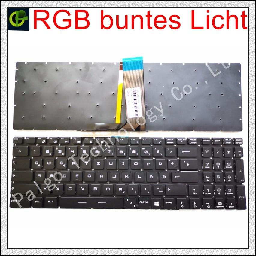 Deutsch Alemão RGB backlit Teclado colorido para MSI WS62 WT72S S1N-3EUS219-SA0 V143422BK1 GE63 GE63VR GE73 GE73VR GR DE