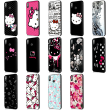 Kitty Cat Soft TPU Silicone Patterned Phone Case for Xiaomi 6A Floral Back Cover mi8 Cases
