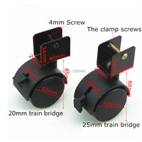 New 2 20mm Train Bridge Casters Durable Nylon Rubber Swivel Castor Wheels Brake Rolling Caster Baby