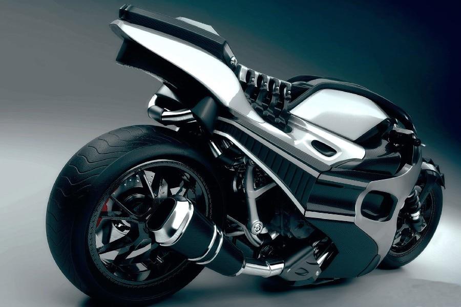 DIY frame Cool Future Concept Motorcycle Fantasy Artwork Fabric Silk ...
