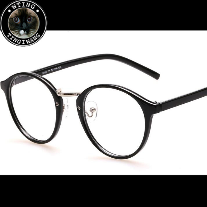 cf92a1e748 2017 new Brand woman Retro round frame prescription eyewear frames mans  eyeglasses 48-20-