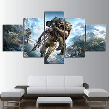 5 Piece Tom Clancys Ghost Recon Breakpoint Game Poster Paintings HD Fantasy Art Solider Pictures Wall for Home Decor