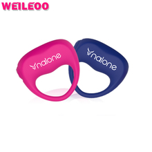 Unisex vibrating cock ring penis ring cockring ball stretcher adult sex toys for men sex toys for couples