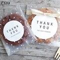 50/100 pièces 4 taille givré mignon points sac en plastique de noce bonbons Cookie emballage sacs Cupcake emballage auto-adhésif cadeau sac
