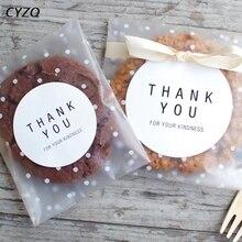 Bolsa de plástico esmerilada de 4 tamaños, embalaje de galletas de caramelo para fiesta de boda, envoltorio para cupcakes, bolsa de regalo autoadhesiva