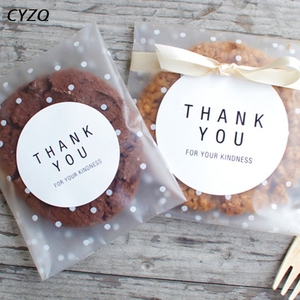 Image 1 - Bolsa de plástico esmerilada de 4 tamaños, embalaje de galletas de caramelo para fiesta de boda, envoltorio para cupcakes, bolsa de regalo autoadhesiva