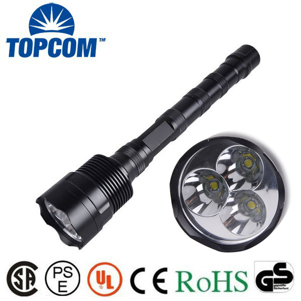 NEW 30w ultra Bright 3pc T6 LED 30W big powerful flashlight 5000 lumen 18650 rechargeable tactical police LED flashlight torch plus size stripe half sleeve sheath dress