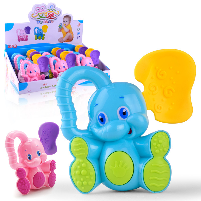 Childrens educational toys New baby early childhood hand catcher Baby cartoon animal puzzle teether rattle toy