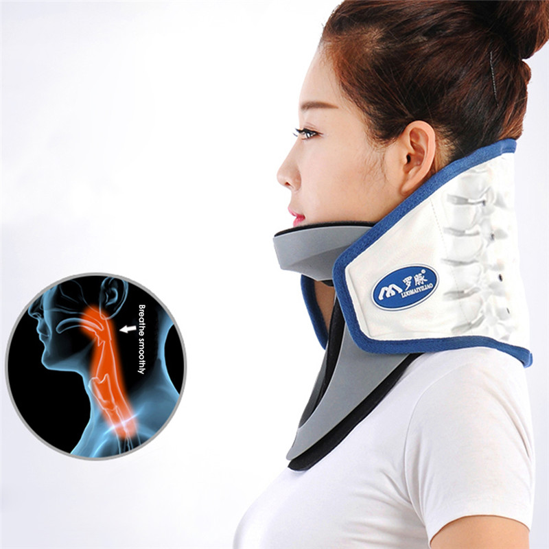 Household medical Inflated Air wave neck collar cervical traction device neck support posture corrector neck brace health care adjustbale cervical traction device household cervical traction support cervical collar stretch