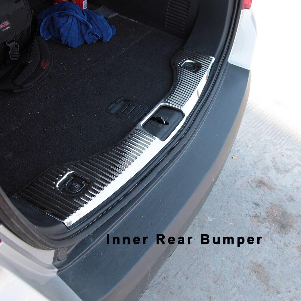 Accessoires de plaque de couverture de protège-garniture de pare-chocs arrière en acier inoxydable pour 2013 2014 15 OPEL VAUXHALL MOKKA BUICK ENCORE