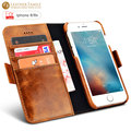 "For iphone 6s case Luxury Oil Wax Leather Detachable 2 in 1 Wallet Card Slot Fundas for iPhone 6 4.7"" genunie Leather back cover"
