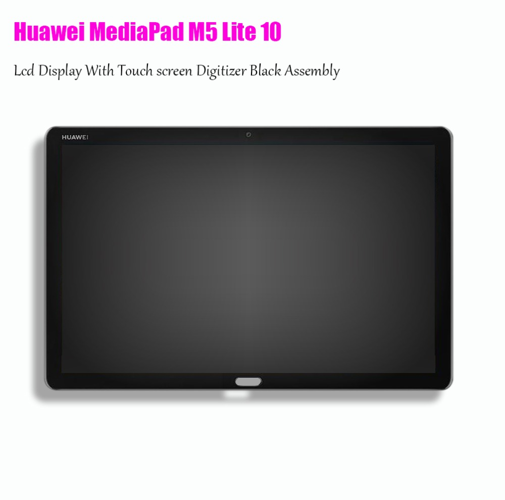 Touch Panel Digitizer Lcd Display 10.1 For Huawei MediaPad M5 Lite 10 BAH2-L09 Bach2 L09C BAH2-L09C Touch screen Lcd Assembly srjtek 8 for huawei mediapad t1 8 0 pro 4g t1 821l t1 821w t1 823l t1 821 n080icp g01 lcd display touch screen panel assembly