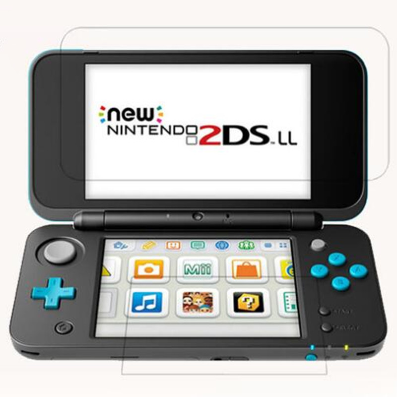 Tempered Glass For Nintendo New 2DS XL LL 2DSXL 2DSLL 2 DS UP + Down Screen Protector Game Console Protective Film Guard
