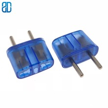 Frosted Crust Europe US AU UK  Male Plug To Universal Female 2Pin Travel Power Adapter Converter 10A/250V