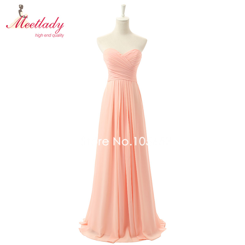 1e4a0f8f5b2 Real Samples Sweetheart Neckline A line Chiffon Bridesmaid Dress Long  Pleated Maid of Honor Dress Cheap Wedding Party Dress RE05-in Bridesmaid  Dresses from ...