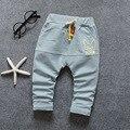 Calças do bebê do outono 3 cores do bebê do menino/menina calças
