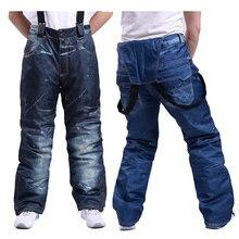 RIVIYELE зимние профессиональные брюки для сноуборда, уличные мужские лыжные брюки, водонепроницаемые ветрозащитные зимние брюки, дышащая Теплая Лыжная одежда