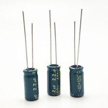 30 pz/lotto 400V 2.2UF 6*12 20% RADIALI elettrolitici in alluminio condensatori 2200NF 20%