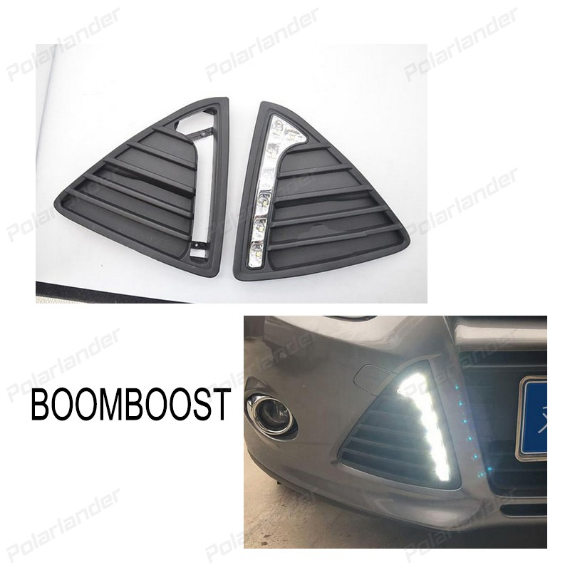 BOOMBOOST 2 pcs 12V LED turn signal Daytime running lights For Ford Focus 2012-2014 Car styling