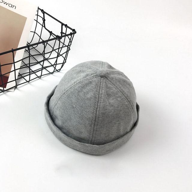 6aeb317f39e Men Casual Beanies Adjust Docker Hat Sailor Cap Mechanic Biker Hat SkullCap  Beanie Gray Navy Blue
