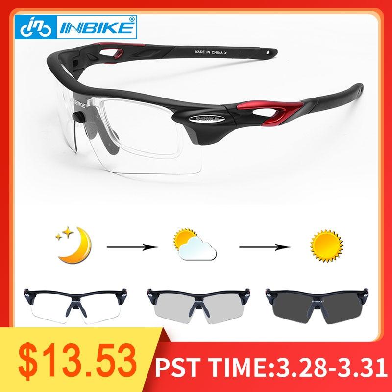 22ddff311f067 INBIKE Esportes Fotocromáticas Óculos À Prova de Vento Óculos de Ciclismo  MTB Road Bike Óculos Polarizados
