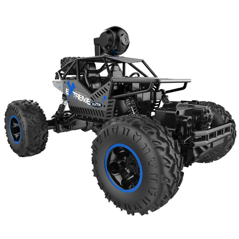 Rechargeable Rc Car With Camera 4Wd 2.4G Remote Control Off-Road Vehicle Strong Off-Road Climbing Performance Gift For Childre image