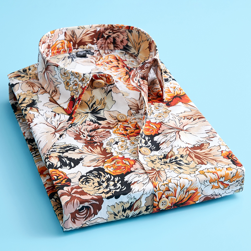 Men's Summer Print Short Sleeve Casual Shirt  Good Quality Cotton Comfortable Shirt Size 5XL
