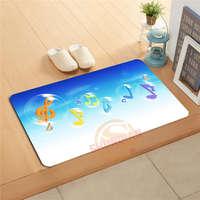 Custom Music Musical Notes Doormat Bath Mats Foot Pad Home Decor Bathroom Mats Door Mat Floor